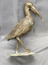 Old Vintage Art Bronze Brass Garden Outdoor Sculpture Bird Frog Statue Figurine