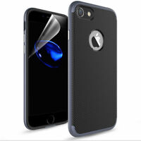 Phone Case For iPhone 7 8 Plus Luxury Rugged Shockproof TPU Bumper Rubber Cover
