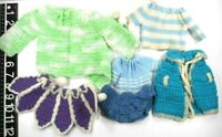 Vintage Crochet/Knitted Doll Clothes 60's-70's Handmade For Various Size Dolls
