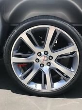 """24"""" Cadillac Escalade 1500 Wheels TIRES Package Silverado Sierra Grey Rims GMC"""