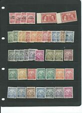 Barbados mainly GVI mint & used accumulation on 2 cards - all sound stamps