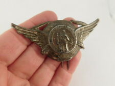 My Guide Pin Fur Lapel Hat Pin Silver Plate Wings Ig Wwii Staint Christopher Be
