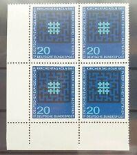 Bund 1965 ** Mi 480 Kirchentag im Eckrandviererblock 4er Ecke unten links (1284)