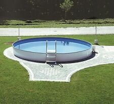 Hammer !!! Pool Schwimmbecken rund 5,00 x 1,50 m Stahlwandbecken + Skimmer