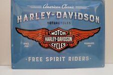 LIMITED EDITION HARLEY DAVIDSON ~ Tin Metal Embossed Sign 30X40CM Licensed