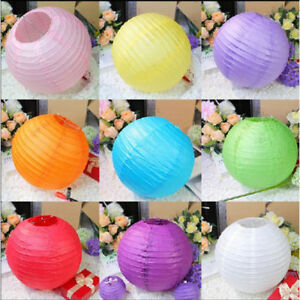 "5pcs Round Paper Lamps Lantern 6""8""10""12""14"" Wedding Birthday Home Party Decor"