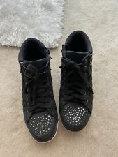 New listing Casual Justice Black High Tops With Gems Girls Size 9