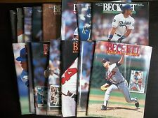 (15) LOT BECKETT BASEBALL CARD PRICE GUIDES back issues vintage assorted VG-NM