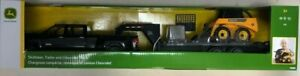 TOMY Big Farm Chevy Truck with Skid Steer and Trailer 1/16 scale (LP55403)