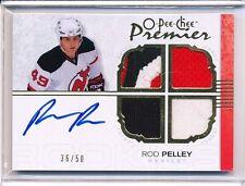 2007/08 OPC O/PEE/CHEE PREMIER ROD PELLEY AUTOGRAPH JERSEY 36/50