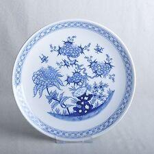 Meissen chinesisches Fels- und Blumen kobalt blau großer Wandteller, 1.Wahl, TOP