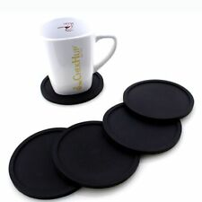 Round Silicone Insulation Coffee Drink Coaster Cup Mug Glass Beverage Pad Mat CA