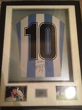 Large Signed Diego Maradona Framed Football Shirt