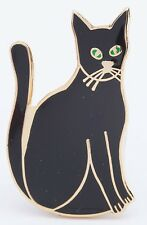 Black Cat Enamel Pin Badge - Brand New Top Quality - Kitten Metal Lapel Brooch
