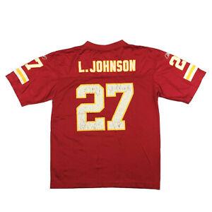Kansas City Chiefs Youth Jersey Larry Johnson #27 Reebok NFL Football Sz Kids L