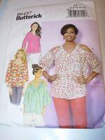 WOMENS UNCUT BUTTERICK B6457 Sewing Pattern SHIRT TOP TUNIC BLOUSE SIZE 6-14