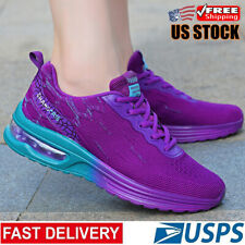 Women's Air Cushion Athletic Breathable Shoes Running Sneakers Casual Tennis Gym