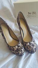 "COACH Ladies Brand New in Box ""Tristian Ocelot Print"" Platform Heels size 7"