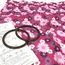 Furoshiki Wrapping Cloth Vintage Purse Bag Kit MOD Pink Floral Japan