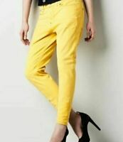 G Star Raw 3301 Tapered Jeans Ladies Yellow Size W26 L32*REF12-7