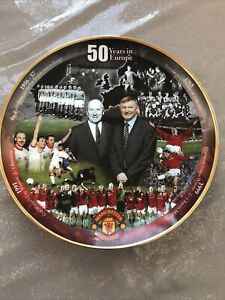 manchester united Danbury Mint Plate - 50 Years In Europe