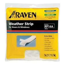 Raven WINDOW & DOOR WEATHER STRIP Self Adhesive Foam Covers 3-5mm Gap 5m WHITE