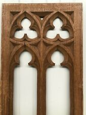 Stunning Carved Pierced gothic Panel in oak