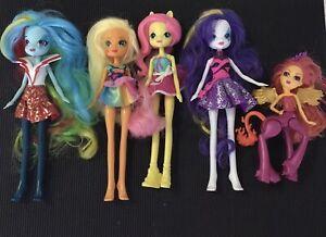 Bulk My LittlePony Equestria Dolls x4 & 1 Monster High Fright Mares Flara Blaze