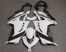 Unpainted White ABS Bodywork Fairing Kit For KAWASAKI NINJA250 2013-2015 14