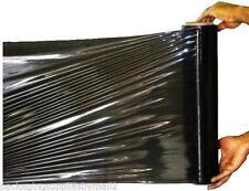 1 X STRONG ROLLS BLACK PALLET STRETCH SHRINK WRAP CAST 400mm