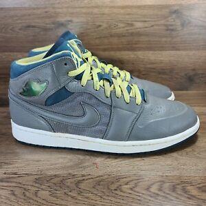 Nike Air Jordan 1 Retro 97 TXT Gray Pewter Electric Yellow 555071-045 Size 11