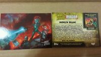 2013 SDCC EXCLUSIVE TOPPS MARS ATTACKS INVASION PROMO CARD # 0 COMPLETE YOUR SET