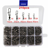 100pcs Brass Strong Crane Swivels With Nice Snap Fishing Swivel And Snap 6 Sizes
