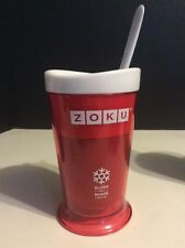 Zoku Slush & Shake Maker Milkshakes Fruit Smoothies Red