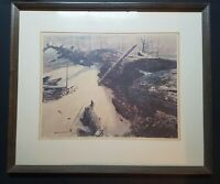 Rare - Signed And Numbered Print By Gerhard C.F. Miller - Snowy Fallen Log/Tree