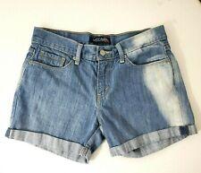 Levi's Juniors Jean Shorts Size 5 Medium Wash Denim Light Fade Cuffed Hem