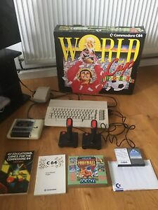 Vintage Original Commodore C64 Boxed and Fully Working Console Bundle