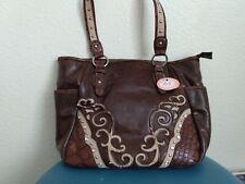 Blazin Roxx Western Women Handbag Purse with Rhinestone Zip-Top new
