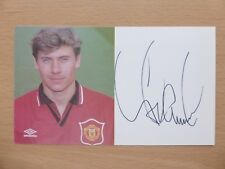 1994-96 Andrei Kanchelskis Signed Man Utd Official Club Card (13539)