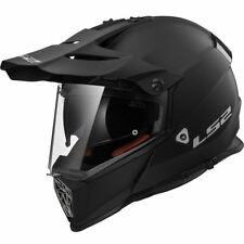 LS2 MX436 Pioneer Plain Adventure Enduro Off Road Dual Sport Helmet Black Yellow