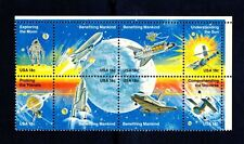 US Nasa Space Achievement 18c Stamp Block 1981 Issue Scott #1912 - 1919 MNH