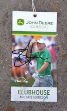 John Deere Classic 2014 Ticket Signed Autographed Brian Harman ~ Jordan Spieth