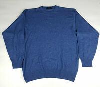 Cachemire et Soie Mens Blue Cashmere Blend Sweater - Size XL