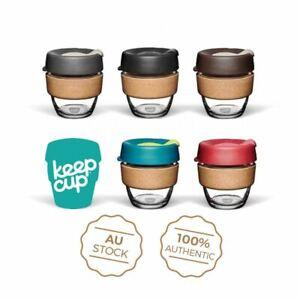 KeepCup Brew CORK Edition - GLASS Reusable Coffee Tea Keep Cup NEW -  8/12/16oz