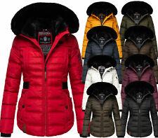 Navahoo Damen Winter Jacke Parka FVS3 Mantel Steppjacke Kunstfell warm MELIKAA