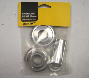GT Power Series 22mm American Bottom Bracket Kit - SILVER -  Old School BMX