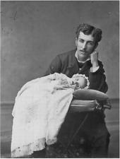 Antique Post Mortem Daughter & Father Photo 305 Bizarre Odd Strange