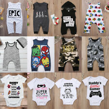 AU Newborn Infant Kids Baby Boy Girl Romper Bodysuit Jumpsuit Clothes Outfits