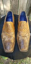 Mark Nason ~ Vintage Style ~ Mustard Yellow / Brown Leather Shoes ~ Men's Size 8