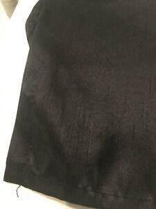 """King Size shiny black Madison Park tailored pleated Drop Bed Skirt 14"""" poly"""